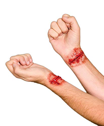 Woochie by Cinema Secrets Slashed Wrist Latex Appliance, Multi, One Size -