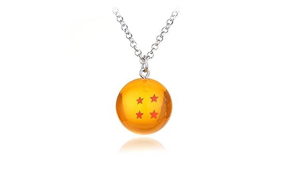 Mens necklace Anime Dragon Ball Z Necklace Orange Pvc Goku ...