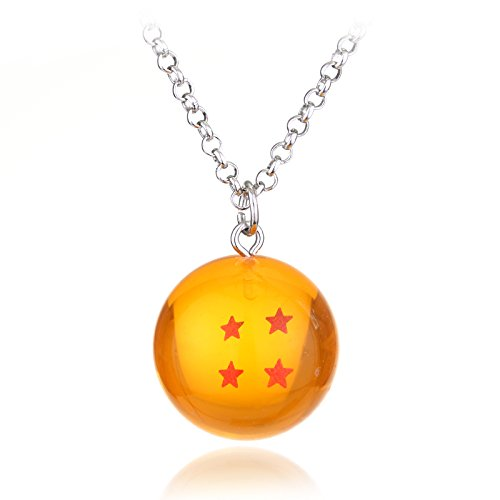 Mens necklace Anime Dragon Ball Z Necklace Orange Pvc Goku ...