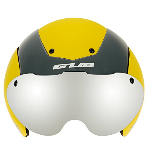 Unisex Cycling Helmet Ultralight Integrally-molded 13 Vents Bicycle Helmet Bike Skating 2 in 1 Helmet with Goggles - Yellow by New Brand