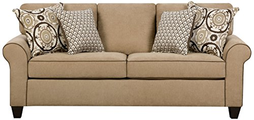 Simmons Upholstery 1691-04QE Beachfront Froth Beachfront Froth Queen Sleeper, Large, Brown