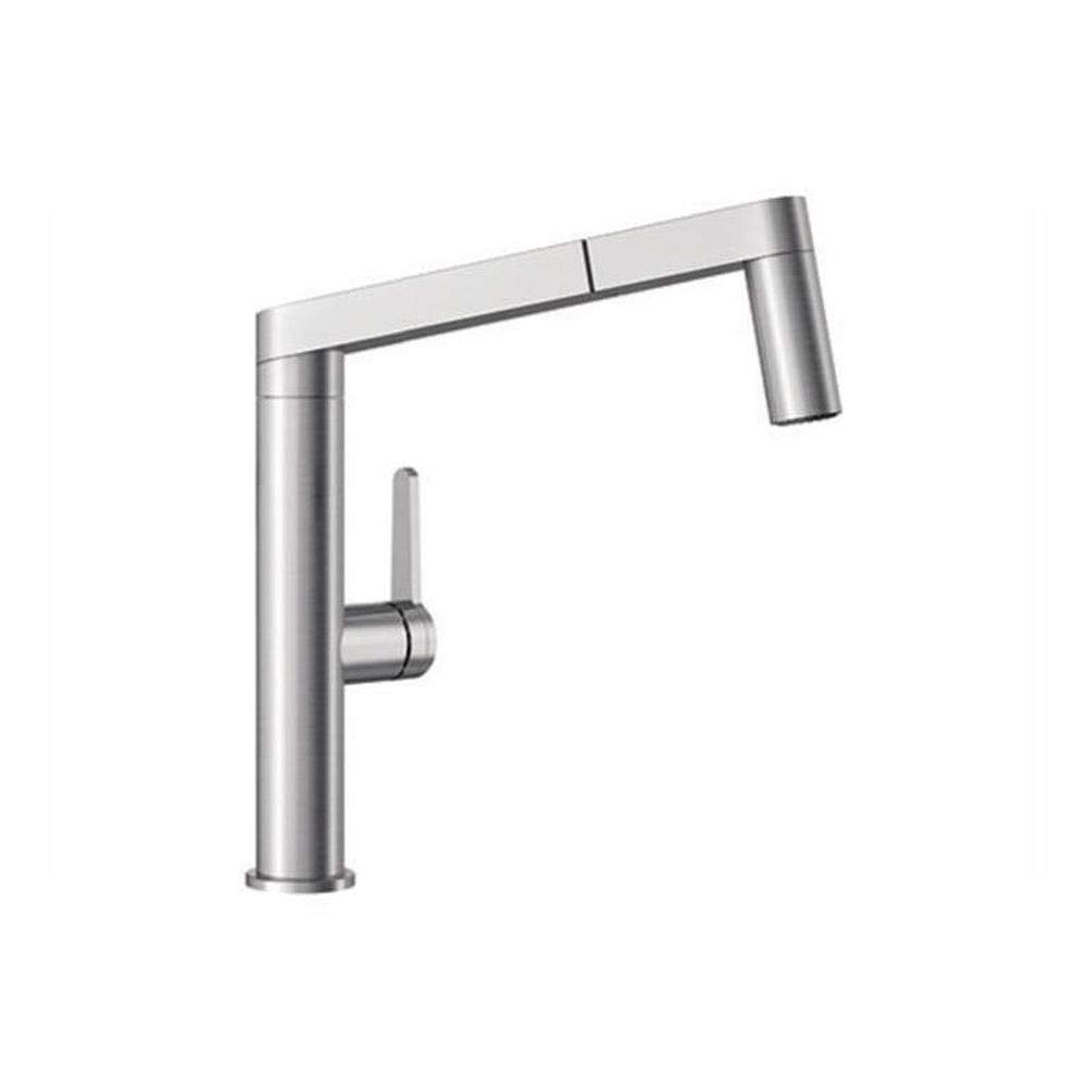 Blanco 402043 Panera 1.5 Gpm Single Handle Pull Out Kitchen Faucet With Dual Spr