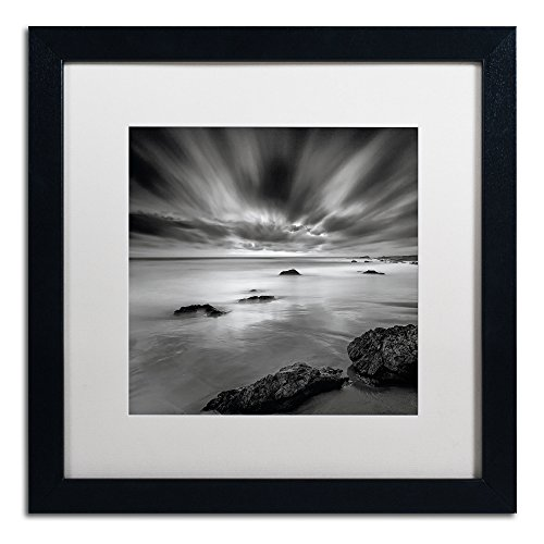 - Dusk Artwork Mark Scheffer in White Matte and Black Frame, 16 by 16-Inch