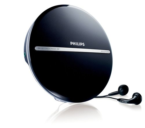 Philips EXP2546/12 Tragbarer MP3-CD-Player (LC-Display) schwarz/silber
