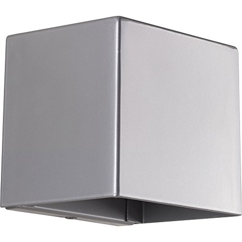 Progress Lighting P5635-8230K9 Cornice One-Light Wall Sconce w/HAL AC LED Module, Metallic Gray