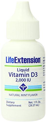 Life Extension Liquid Vitamin D3 2000IU, Mint Flavor, 1 ounce