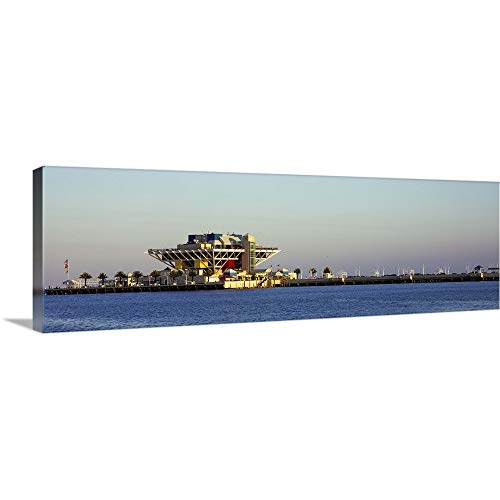 GREATBIGCANVAS Gallery-Wrapped Canvas Entitled Hotel on a pier St. Petersburg Florida by 60