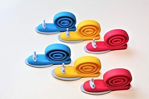 T/ürstopper Schnecke Baby Einklemmschutz safety4family 6 St/ück Finger Klemmschutz f/ür T/üren T/ürstopper