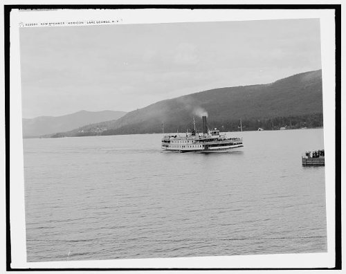Photo: New steamer Horicon,side wheeler,water bodies,Lake George,New - Ny George Shopping Lake