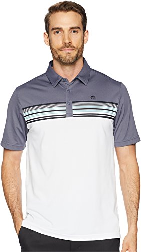 Straight Bottom Polo Top - Travis Mathew Men's Otters Polo Grisaille Large