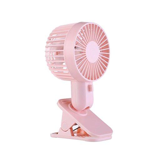 Wind Speed Table - Besde Protable Double Turn Leaves Fan Electric Fan USB Table Stand Fan 2-Speed Wind (pink, A)