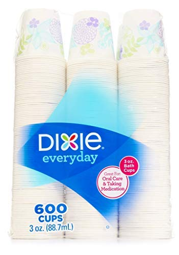 Dixie Bath, 3 oz. -600 Cups,Varies Color, 1 Pack,