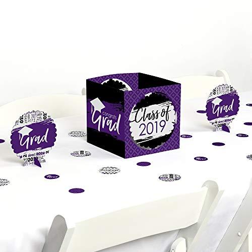 Purple Grad - Best is Yet to Come - Purple 2019 Graduation Party Centerpiece & Table Decoration Kit ()