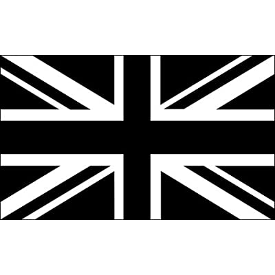 American Vinyl Black Jack Flag Sticker (Union UK bw White British Britain): Automotive