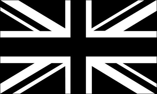 American Vinyl Black Jack Flag Sticker (Union UK bw White British Britain) ()