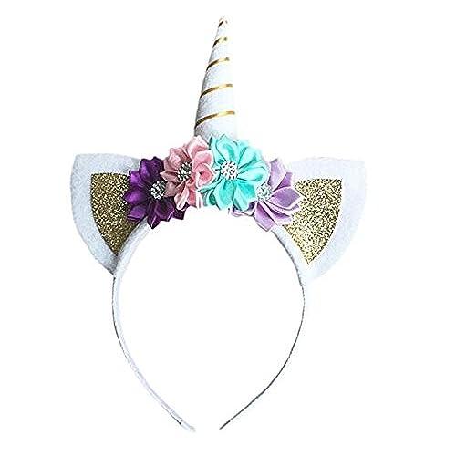 Beito Diadema de unicornio para niños, diseño de unicornio de ...