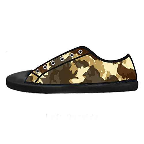 Custom Camouflage Womens Canvas shoes Schuhe Lace-up High-top Footwear Sneakers E