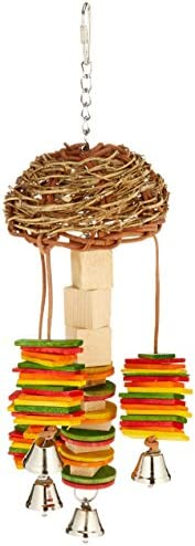 Featherland Paradise Hanging Bird Toy for Chewing Preening & Foraging