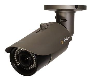 Q-See QTN8021B 1080p HD Varifocal Weatherproof IP Bullet Camera with  165-Feet Night Vision (Gray)