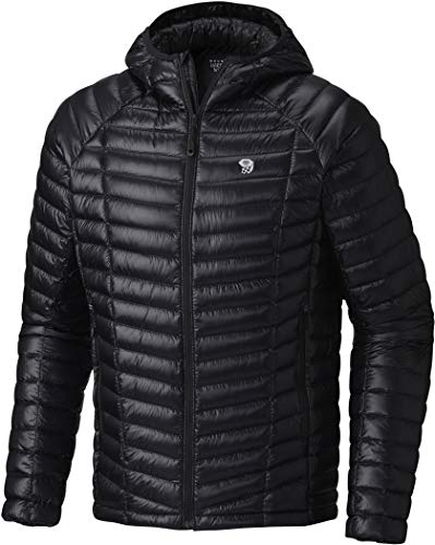 Mountain Hardwear Men's Ghost Whisperer Hooded Down Jacket, Black, 2XL - Ghost Whisperer Down Jacket