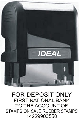 Custom For Deposit Only Stamp (Up to 5 Lines)