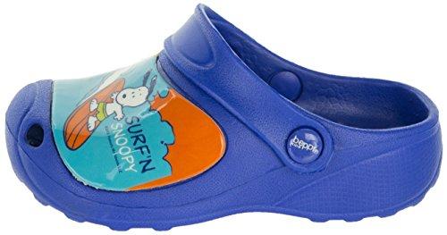 Beppi Clogs Schuhe für Kinder | Kinderschuhe Snoopy Motiv | Strandschuhe Badeschuhe Bequem | Gartenschuhe für Mädchen | 23-28 Blau