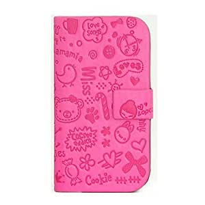 Cartoon Little Girl Design PU Leather Stand Case for Samsung Galaxy S3 I9300 (Assorted Colors) , Black