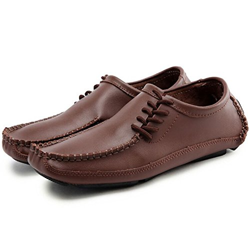 Shoes Brown Slip Urbancolor Summer Loafers Leather Casual Fashion Driving Moccasins On Men's Outdoor q77ZE6