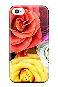 High Impact Dirt/shock Proof Case Cover For Iphone 4/4s (pressed Flower Delights)
