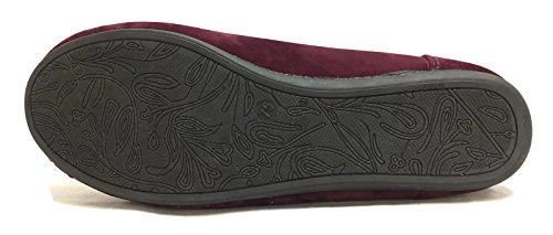 Suede Hello Moccasin Cozy Lined Burgundy Womens Slippers Cozi Faux Fur XwrqXSA