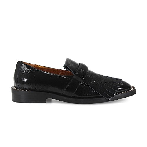 RAS PATENT LEATHER SHOES WITH FRINGE AND CRYSTALS