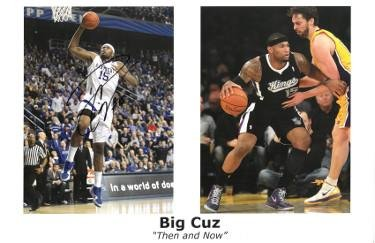 "Demarcus Cousins signed Kentucky Wildcats/Sacramento Kings Big Cuz""Then and Now"" 11x17 Photo 2 Photo #15-JSA/BAS Guaranteed - PSA/DNA Certified"