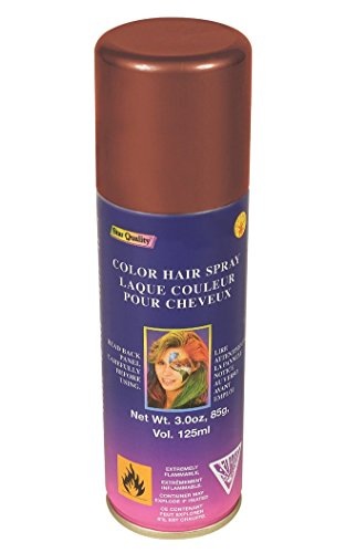 Forum Novelties 53509 Temporary Hair Spray Dye Brown Color Can Makeup Halloween, One Size, Multi, Pack of 1 -