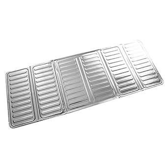 Novelty 84 * 32.5cm Kitchen Aluminum Foil Cooking Frying Pan Oil Splash Screen Cover Anti Splatter Shield Guard Oil Divider - Silver