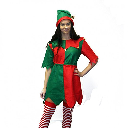 Costume Uk Elf (Womens Christmas Toyshop Elf Costume)