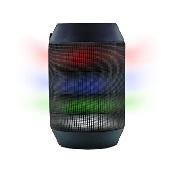 Aduro AMPLIFY LED Bluetooth Wireless Speaker - Color Changing Rave Light Show Party Speaker (BrightSound Mini) 1 Works with all Smartphones and Tablets, Including Apple iPhone, iPad, Galaxy, Android, and all Bluetooth Enabled Devices Easy-Touch Pairing - Let's you pair the speaker to your phone quickly so you can get starlight to the party Mic Included for Hands-Free Calls - So you can answer your calls and communicate without any interruptions