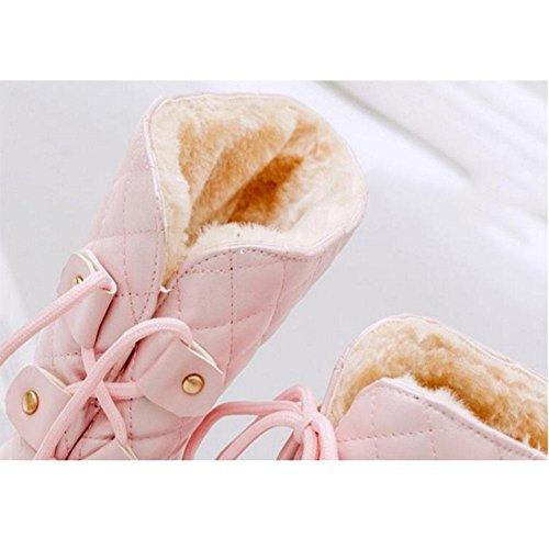 casuales Aumento invierno espeso para pink con espesamiento otoño 41 calor Botas Zapatos 41 de mujeres del e gBPxIq