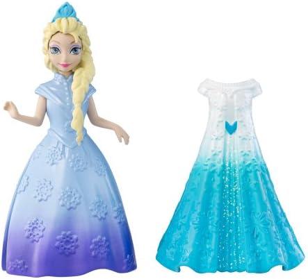 Mattel – La Reine des Neiges – MagiClip – Elsa – 1 Mini Poupée + 1 Robe Clippable
