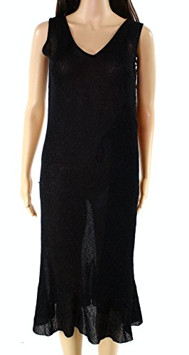 Lauren Ralph Lauren Womens Knit Glitter Flounce Dress Black L Ralph Lauren Wedding