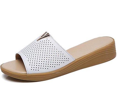 l'extérieur des cool femmes à mode respirant sandales plates KUKI portent 2 de pantoufles Pantoufles xHfq881