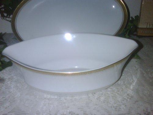 Vintage Japan Linden Fine China Greek Key Gravy Boat/ Oval Plate Mk-3006 -