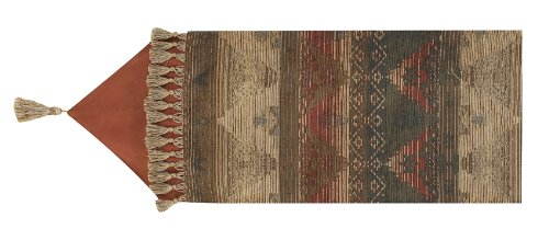 HiEnd Accents Sierra Table Lodge Runner - Leather Table Runner