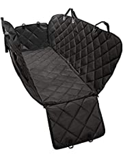 PetOcean Dog Car Seat Cover - 100% Waterproof, Scratchproof, Nonslip, Durable Heavy Duty Hammock Dog Car Back Seat Cover, Machine Washable, Convertible and Universal Fit for Cars, Pickup Trucks, SUVs