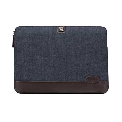 Brenthaven Collins Sleeve with Zippered Front Pocket Fits 12 Inch Apple MacBook, Laptop, Tablet for Commercial, Business, Office Use - Indigo, Durable, Rugged Protection from Impact and Compression