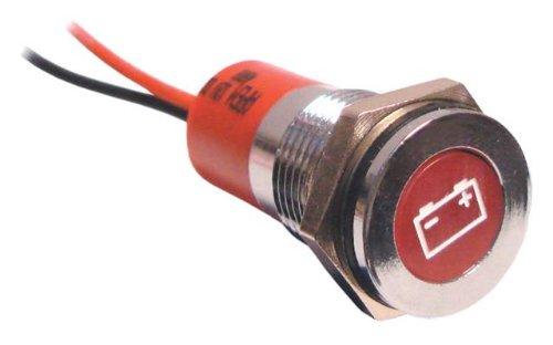Car Van Battery Warning Led Indicator Light Illuminated 12 Volt Panel Dash Lamp