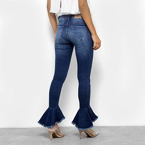 Calça Jeans Biotipo Cigarrete Feminina - Azul - 46