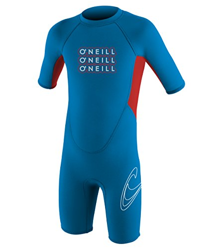 O'Neill Wetsuits Kinder Neoprenanzüge Reactor Toddler Spring, Briteblue/Red, 6 Jahr, 4300