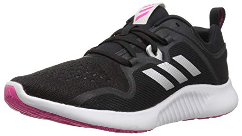 6e18282da adidas Women s EdgeBounce Running Shoe Black Silver Metallic Shock Pink 5 M  US by