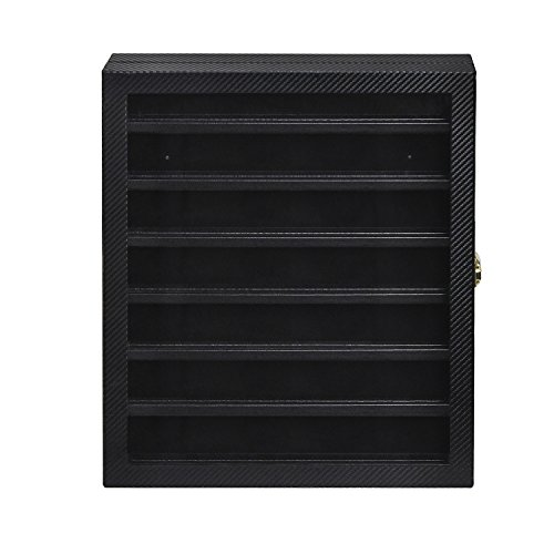 JackCubeDesign Military challenge coin & Casino poker chip & medals/ pins/ badges/ ribbons display case cabinet holder shadow box w/ acrylic door-MK375A Coin Shadow Boxes
