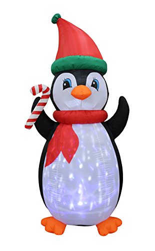 7 Foot Tall Christmas Inflatable Penguins with Twinkle Lights Decor Outdoor Indoor Holiday Decorations, Blow Up LED Lighted Christmas Yard Decor, Giant Lawn Inflatable for Home, Family, Outside - Inflatable Lawn Decoration